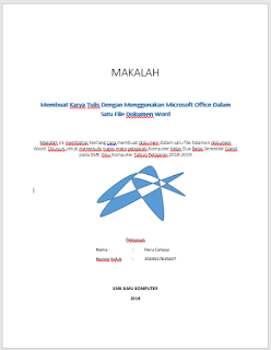 contoh cover makalah dengan desain sendiri