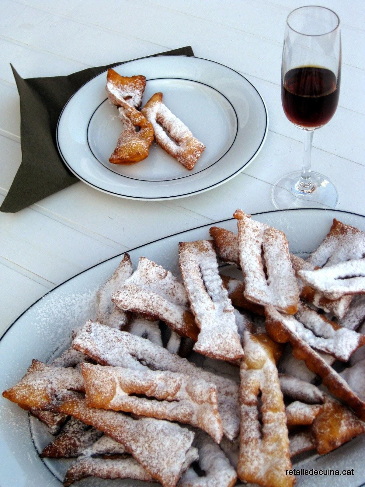 Chiacchiere, dolços italians de Carnestoltes