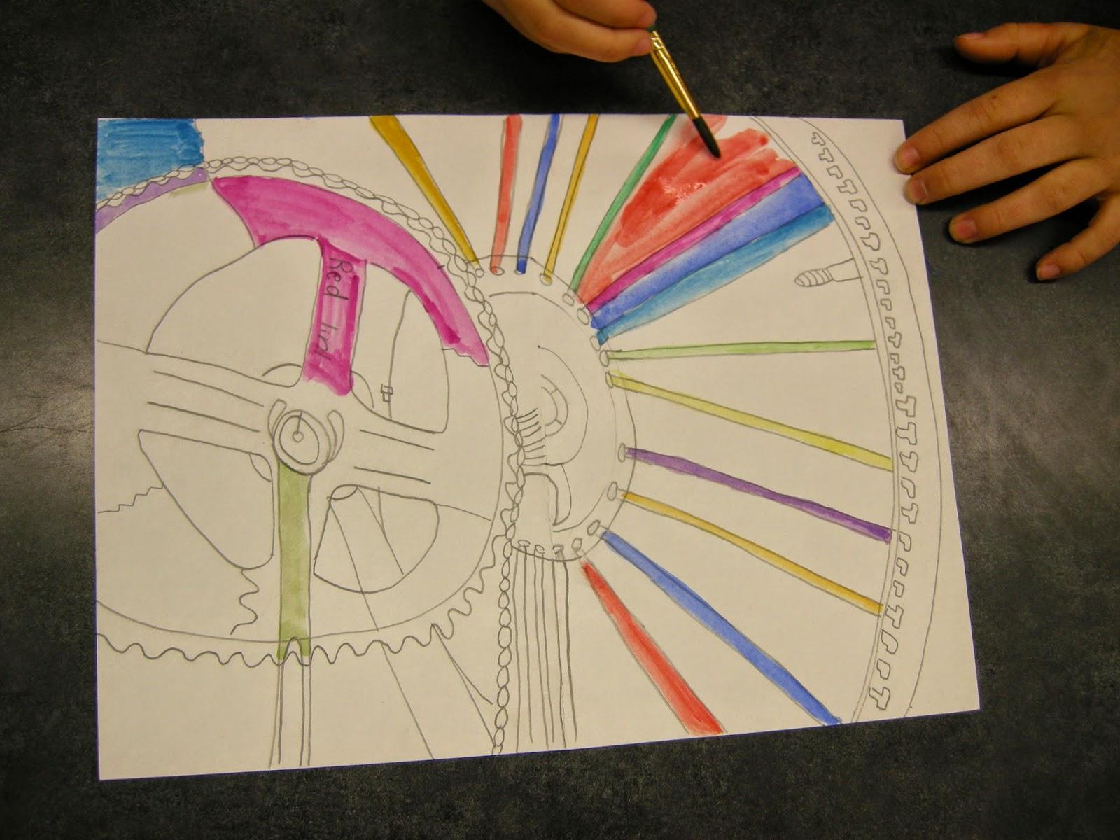 Zilker Elementary Art Class 5th Grade Contour Line