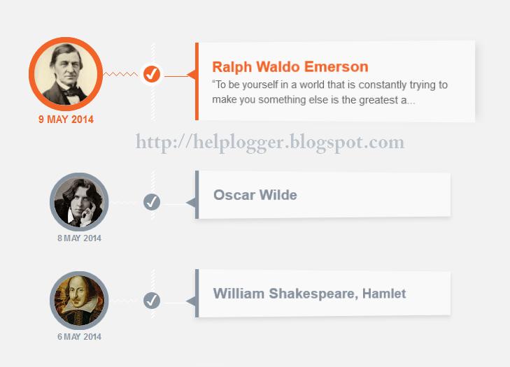 responsive CSS timeline, customize blogger posts
