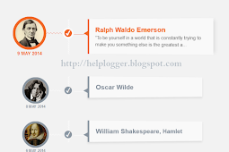 Responsive CSS Timeline with 3D Effect for Blogger