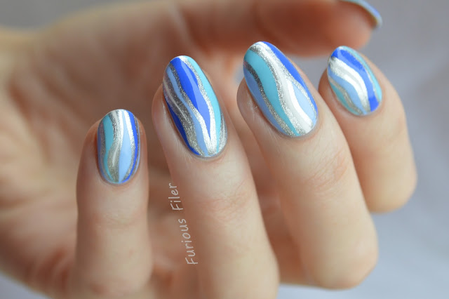 ice icicles blue ombre winter nail art tutorial