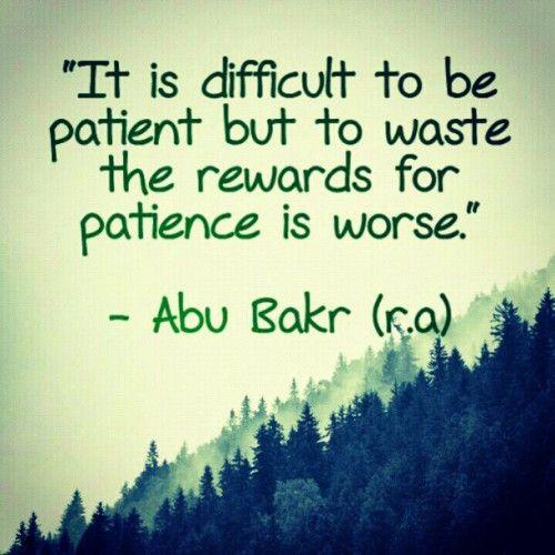 Tazkirah Jumaat #43 : Patient