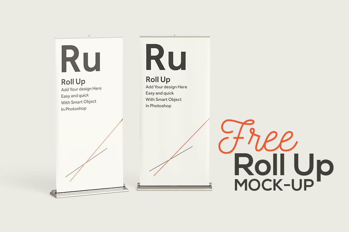 Free Roll Up Banners Mock-up