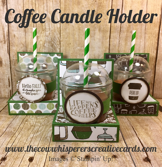 Coffee Break, Coffee Candle Holder, Christmas Gift, Stampin UP, The Cow Whisperers Creative Cards