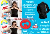 Logo Ajax: uno stencil in regalo sicuro, vinci 50 giacche da Chef a settimana e non solo!