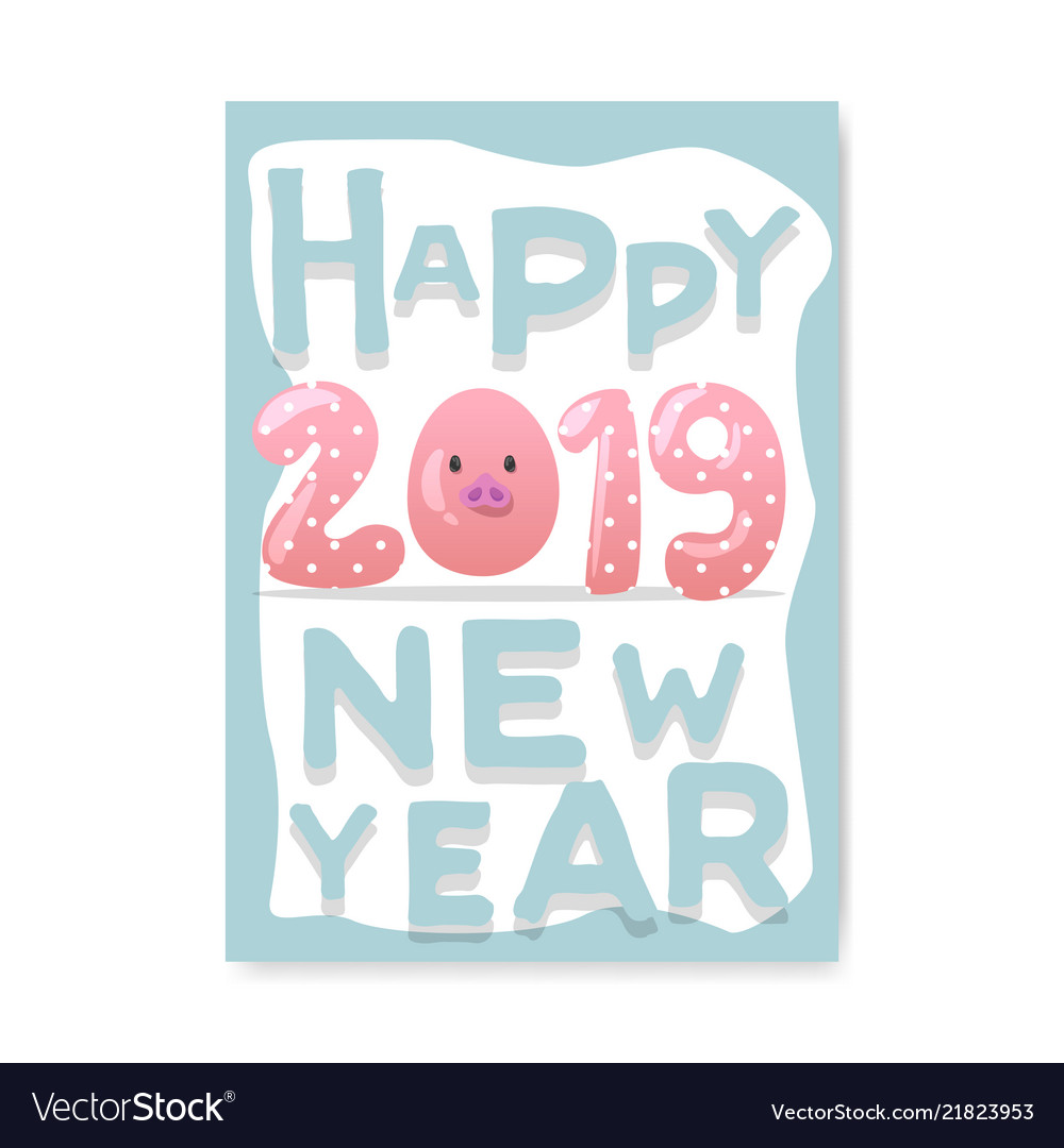 Awesome happy new year 2019 vector graphics to download in AI, SVG, JPG and PNG