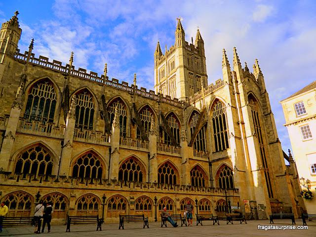 Fachada da Abadia de Bath, Inglaterra