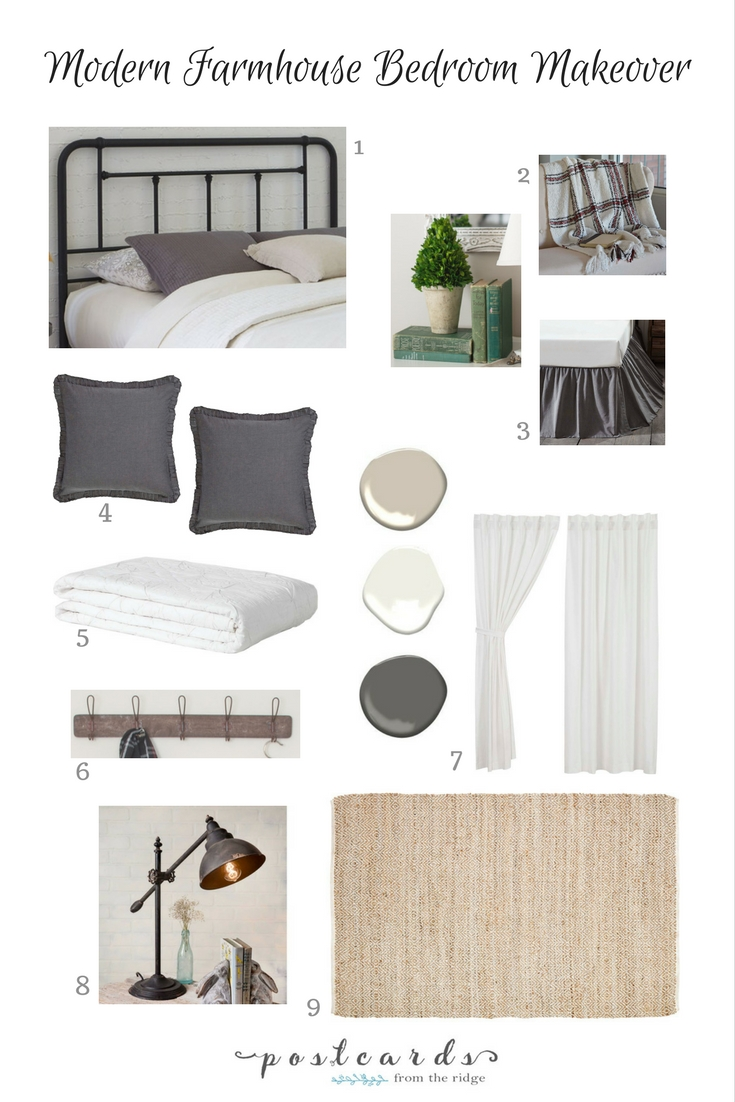 Love this modern farmhouse bedroom design plan!