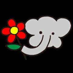 Untidy Elephant Sticker