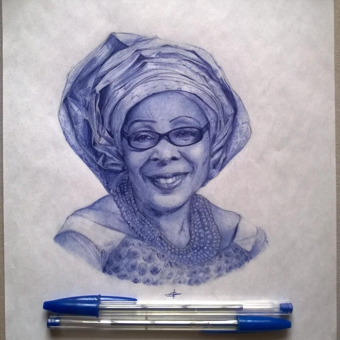 11-Mummy-Uko-Larry-Tamara-Ballpoint-Pen-Portraits-Progression-Drawings-www-designstack-co