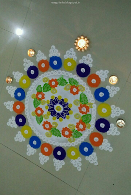 Multicolor Rangolis for Diwali