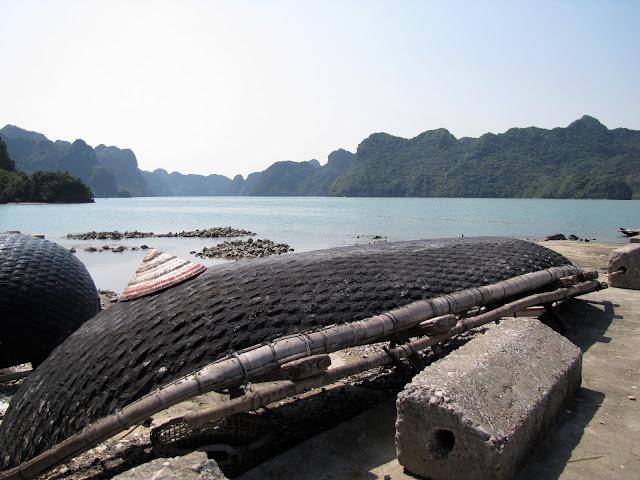 traditional boat cat ba halong bay vietnam