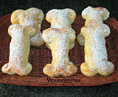 Huesitos de Pan. Receta de Halloween