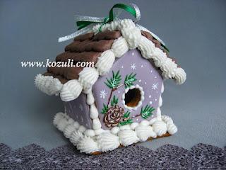 Пряничный домик своими руками. Новогодний пряничный домик с сосновой шишкой, видео мастер-класс