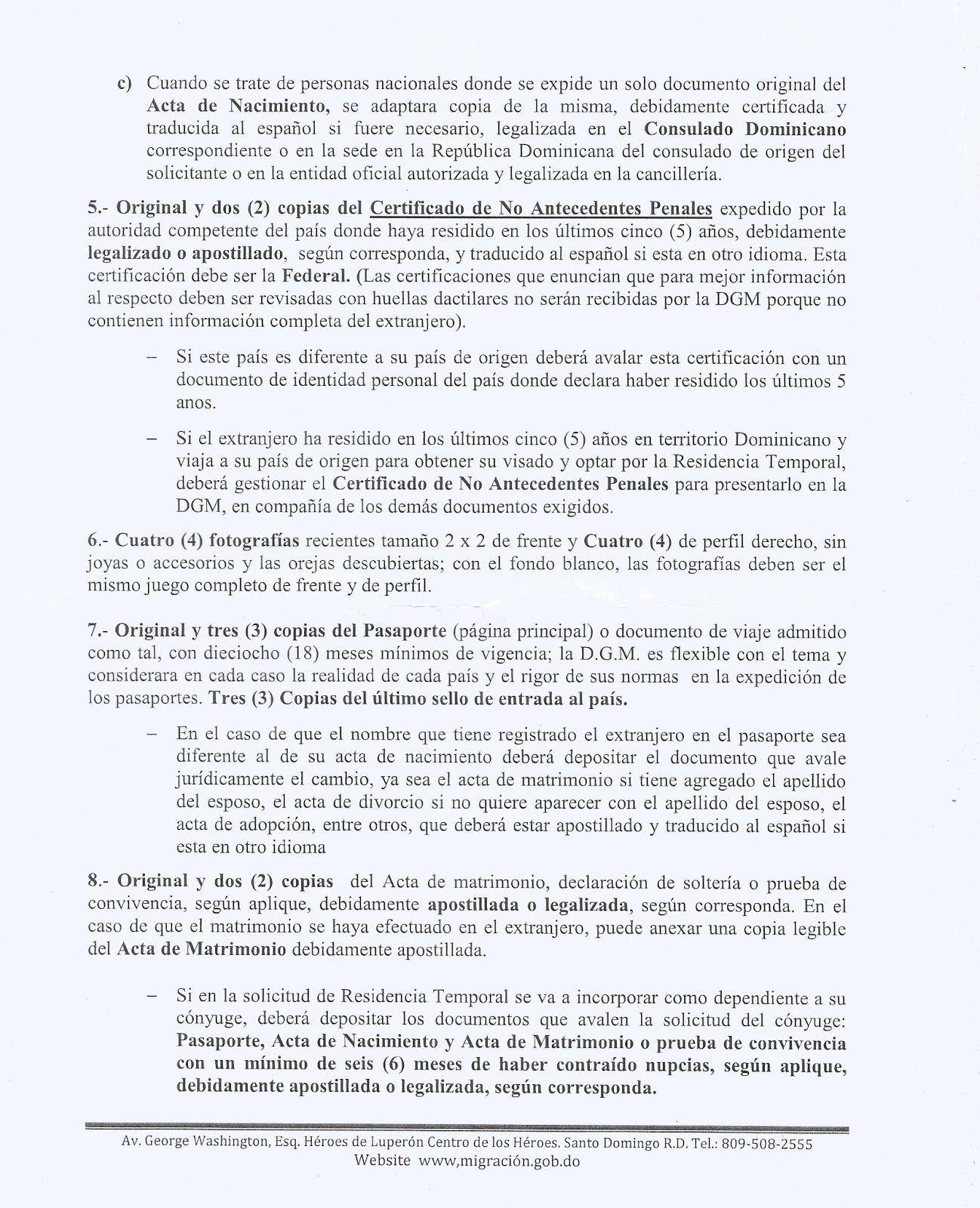 La Cachapa Dominicana: Proceso de residencia en Republica Dominicana.