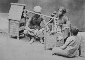 Penjual Sate Pada Masa Kolonial Belanda