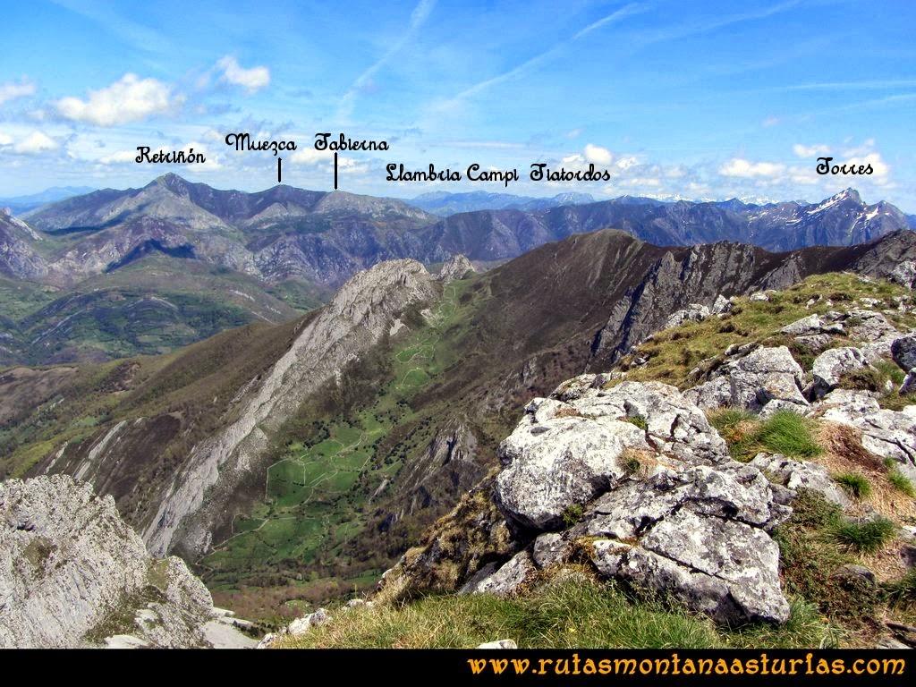Ruta Peña Redonda: Vista de la Llambria, Campigüeños y Tiatordos