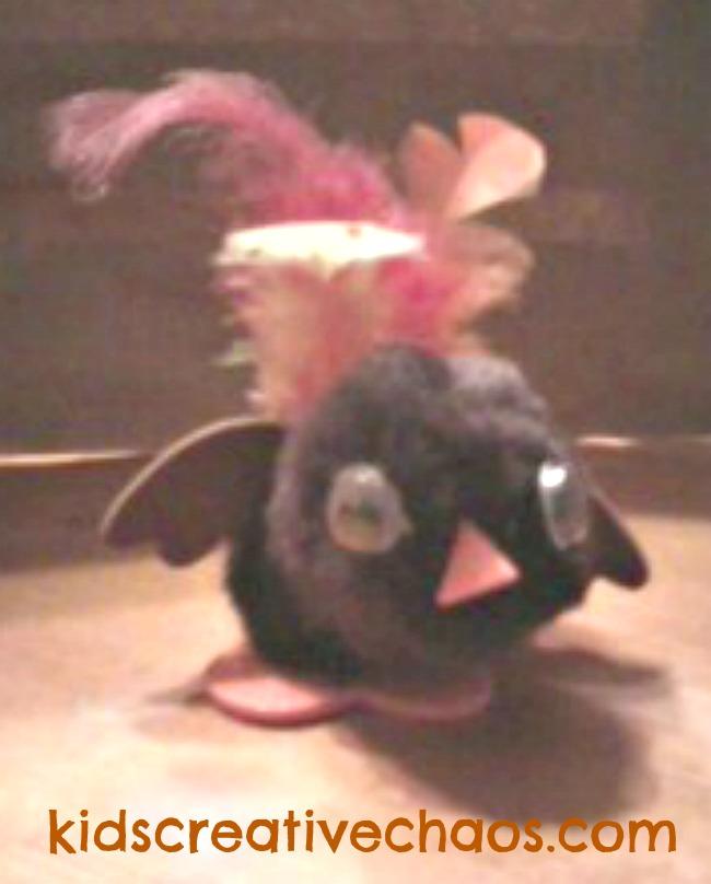 Turkey Chick Pom Pom Thanksgiving Craft Kids Creative Chaos