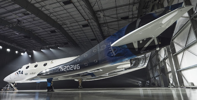 Virgin Spaceship Unity is unveiled in Mojave, California, Friday February 19th, 2016. Credit: Mark Greenberg/Virgin Galactic