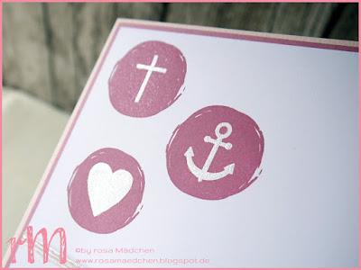 Stampin' Up! rosa Mädchen Kulmbach: Konfirmationskarte mit dem Set Moderne Firmung vom creative-depot