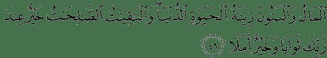 Surat Al Kahfi Ayat 46
