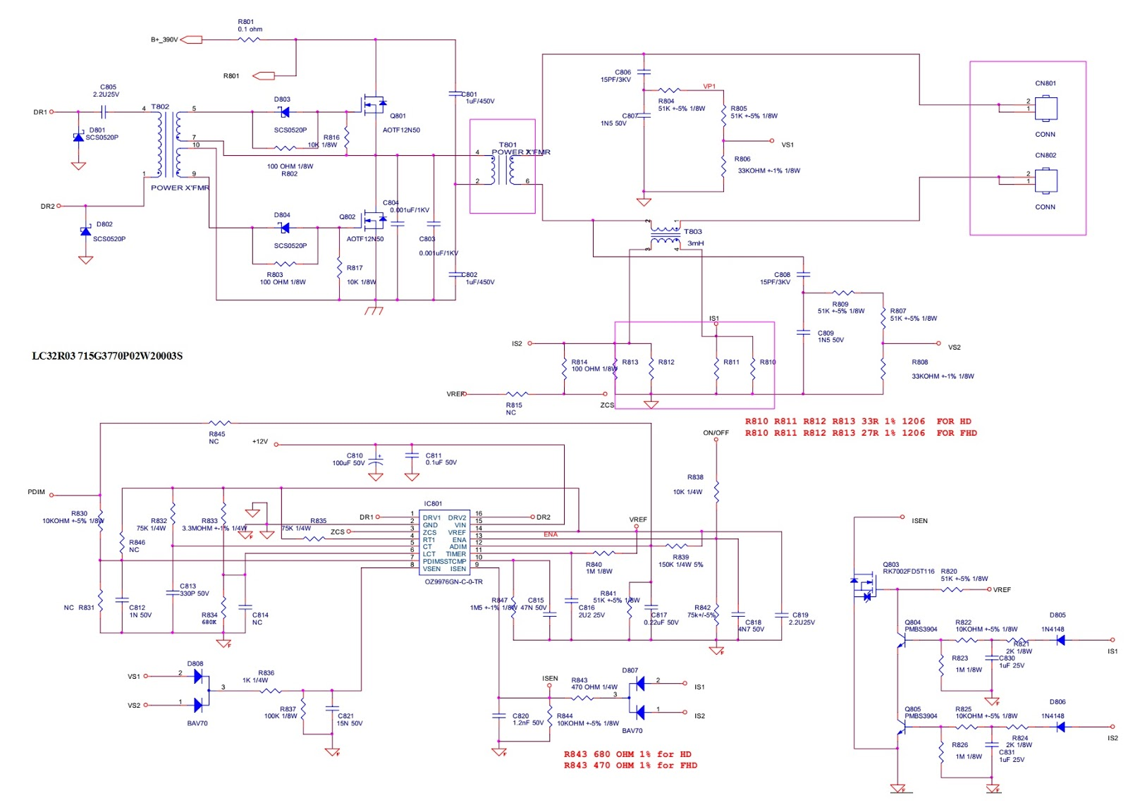 Aoc Lc32r03 And Lc42r03 Lcd Tv Smps Circuit Diagram Electro Help