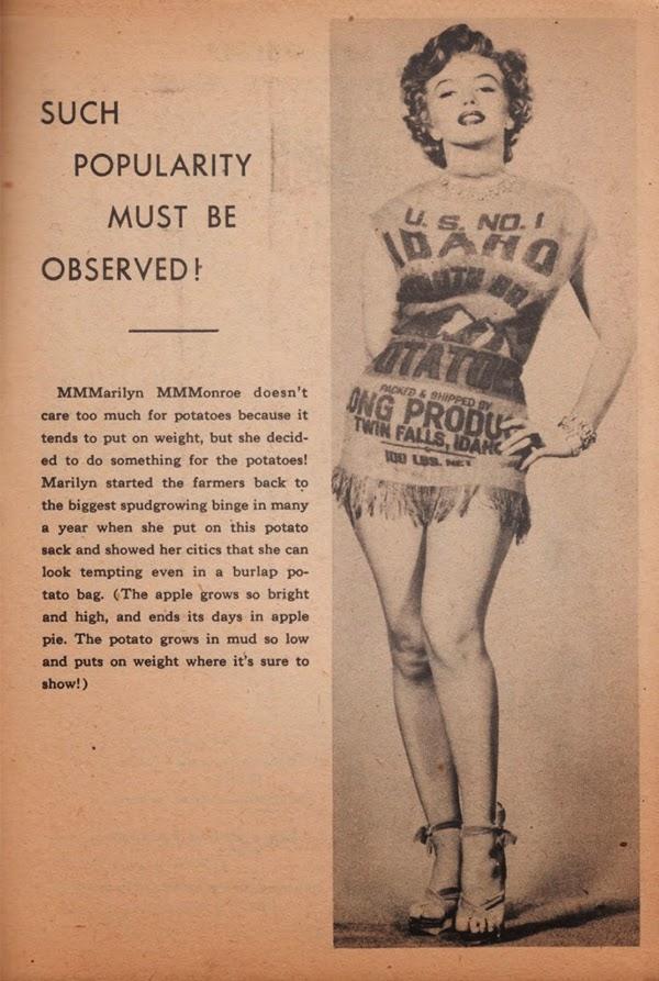Fotografías de Marilyn Monroe vestida con un saco de patatas