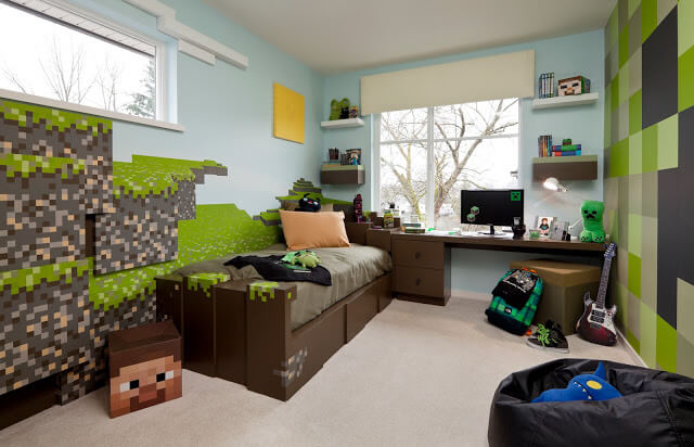 minecraft decorative royal master bedroom for children and adolescents