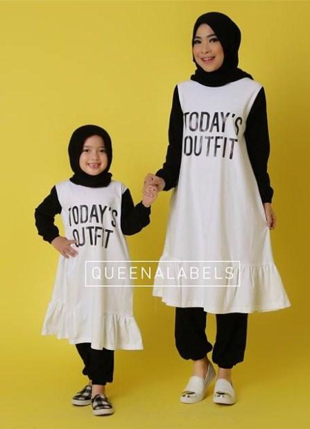 Koleksi Baju Muslim Trendy Pasangan Ibu Dan Anak Perempuan Terbaru