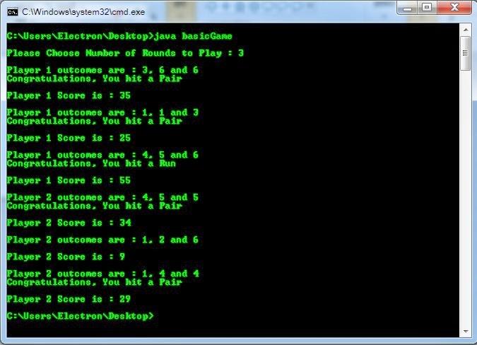 Craps game code in java / Online Casino Portal