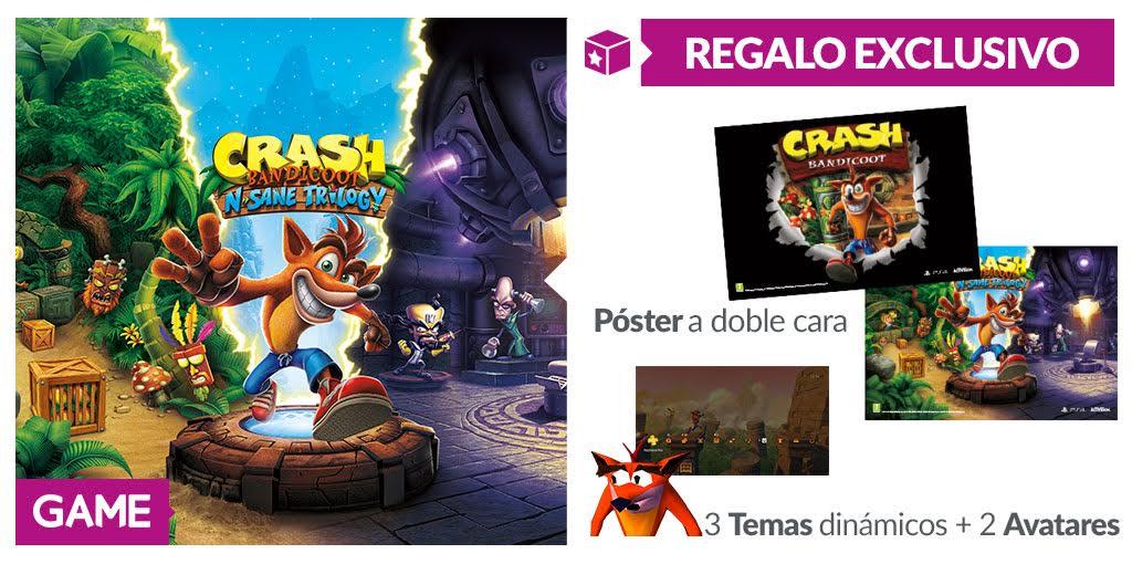Crash Bandicoot vuelve a lo grande en GAME con estos regalos