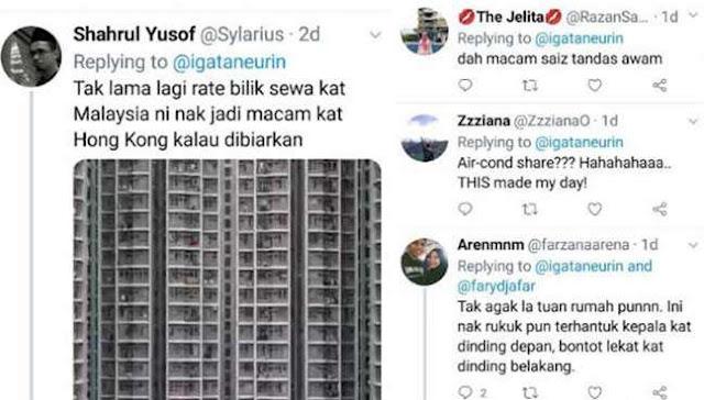 Netizen Berang Bilik Sewa Besar Macam Lubang Kubur