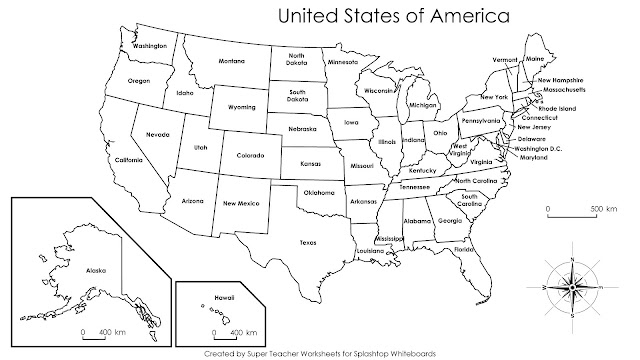Printable US Map with Cities