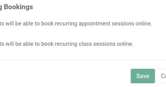 Clients can now book recurring sessions online