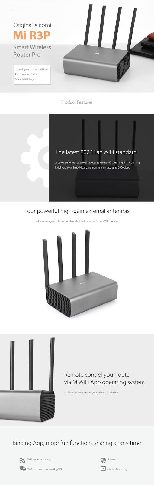 Xiaomi Mi R3P Router 2600 Mbps | World of Xiaomi