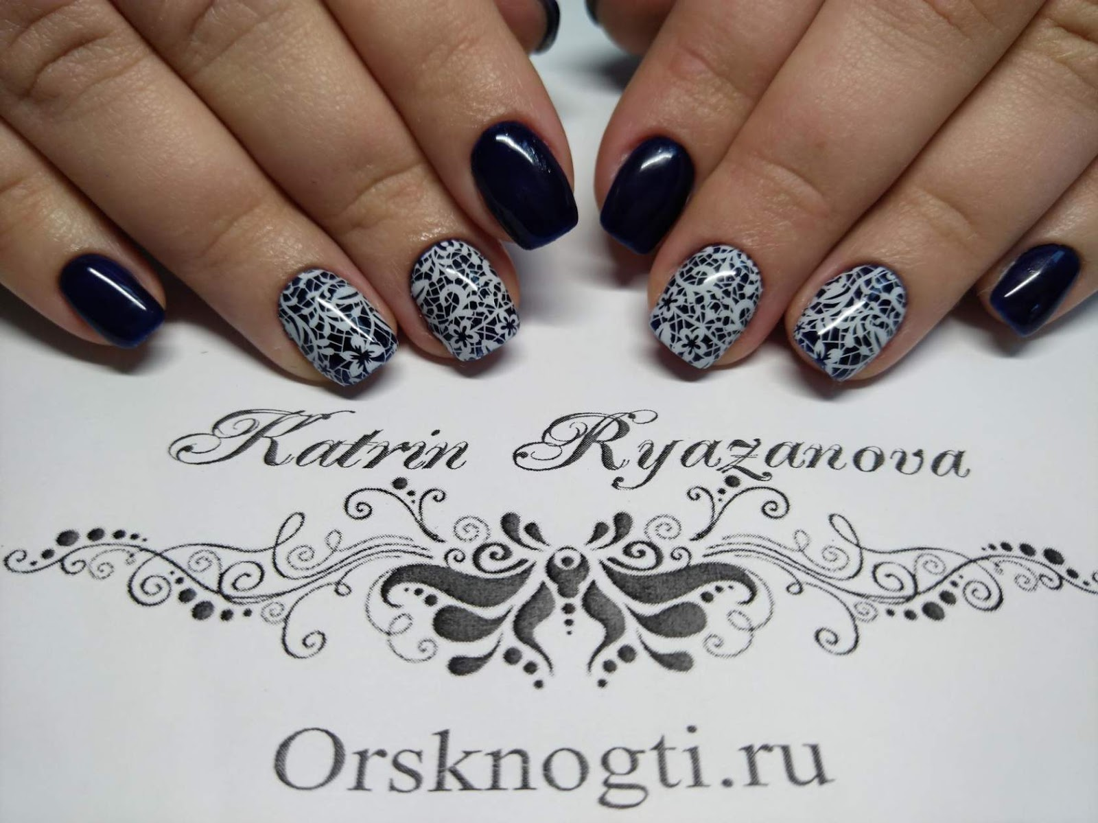 Black White Nails Art Disign Creative Nail Design Cuticle Remover