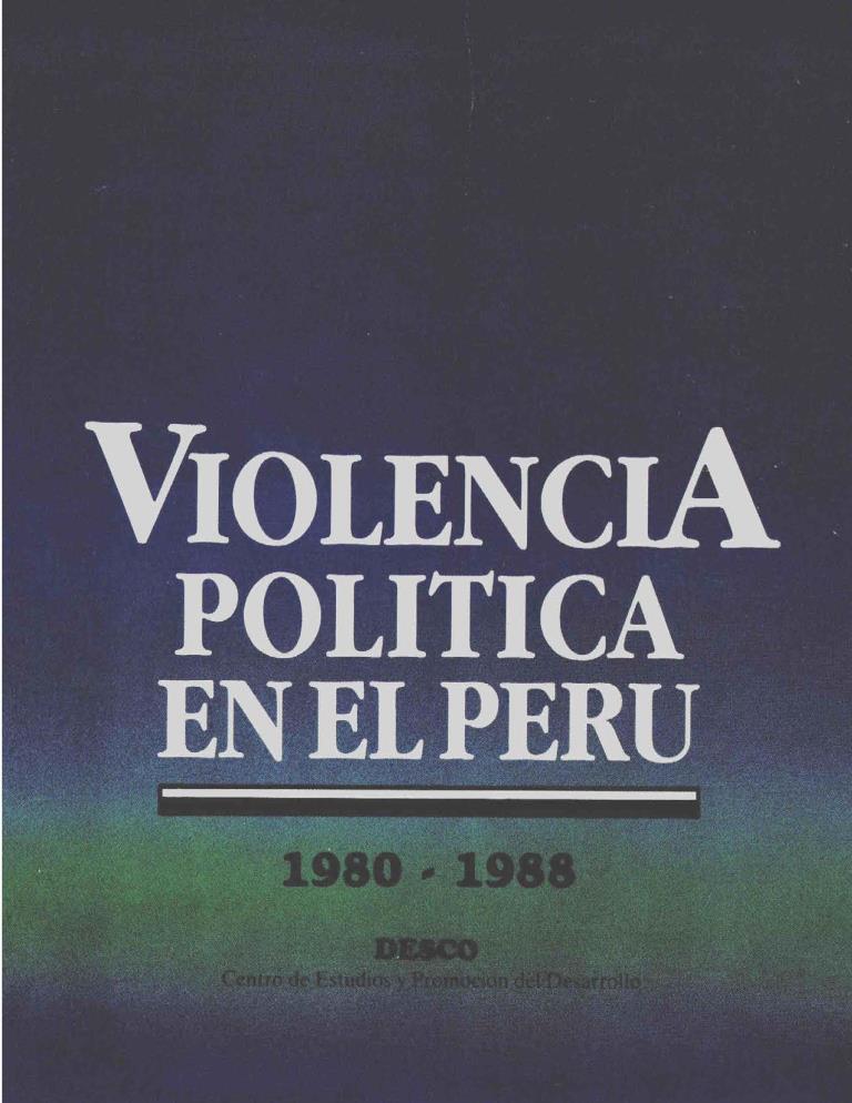 Violencia política en el Perú 1980 – 1988