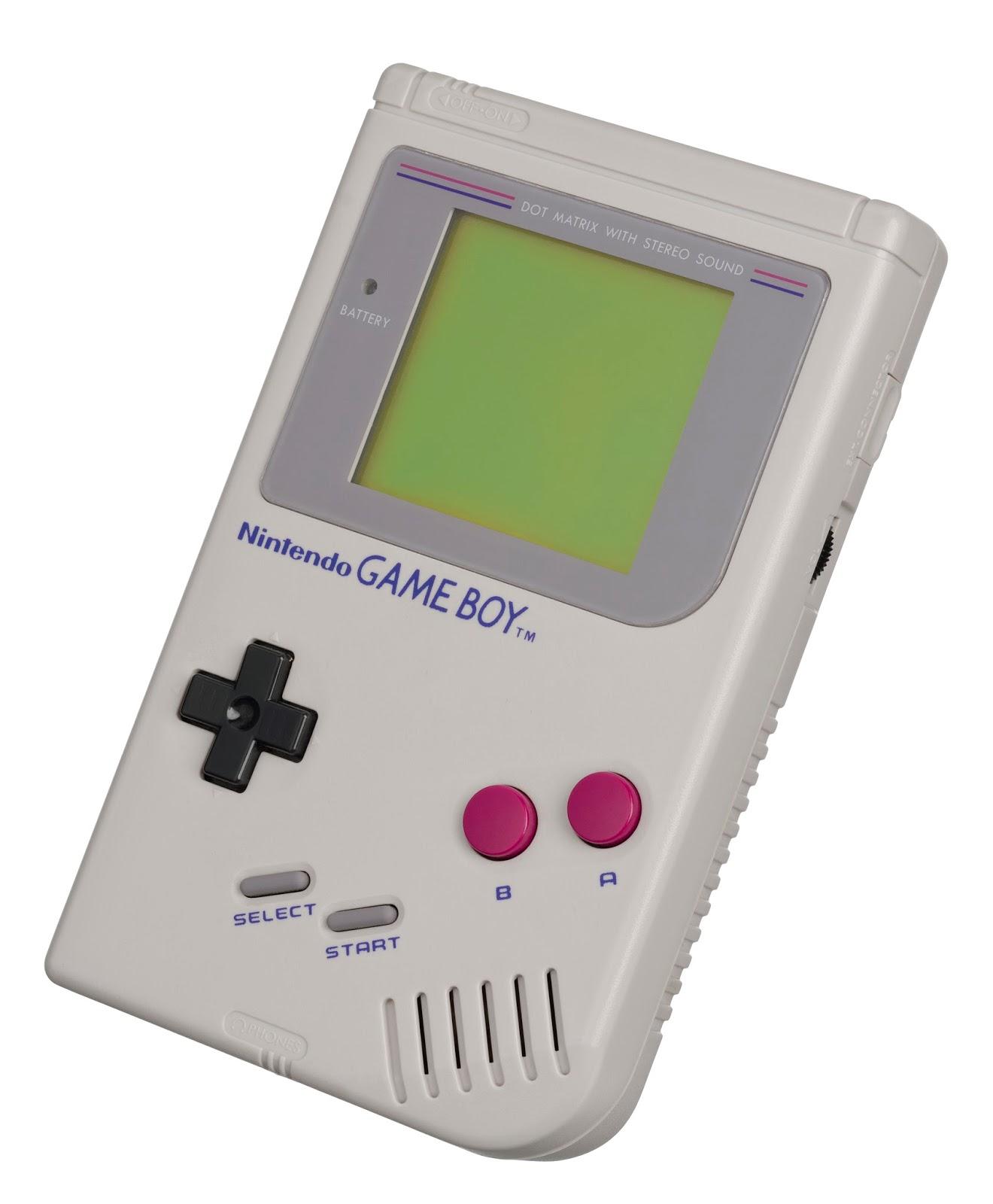 Imagen con la primera generación de Game Boy de Nintendo de 1989