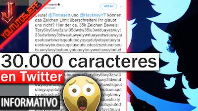 Twitter, caracteres, noticias