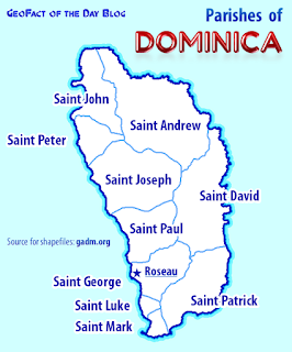 Dominica parishes map