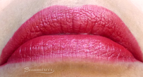 Lip swatch Lancome lipstick L'Absolu Rouge Definition Le Sepia