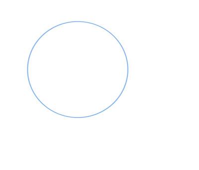 Dessiner un visage manga de côté: dessiner un cercle de construction