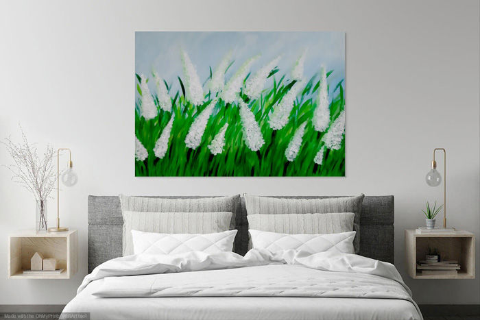 What app to use to preview your artwork on the wall?