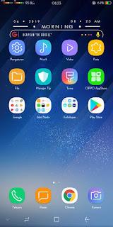 .Cara Merubah Tampilan Oppo A83, A3s, F5, F7 dan Seri Lainnya Menjadi Samsung S8 Tanpa Aplikasi