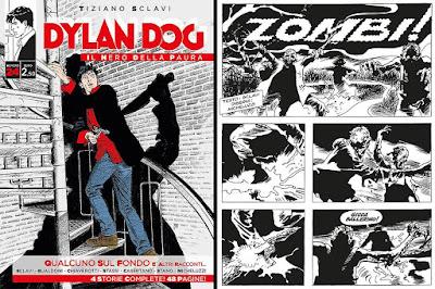 """Dylan Dog, il nero della paura #24 (cover e prima pagina della storia """"Zombi!"""""""")"""