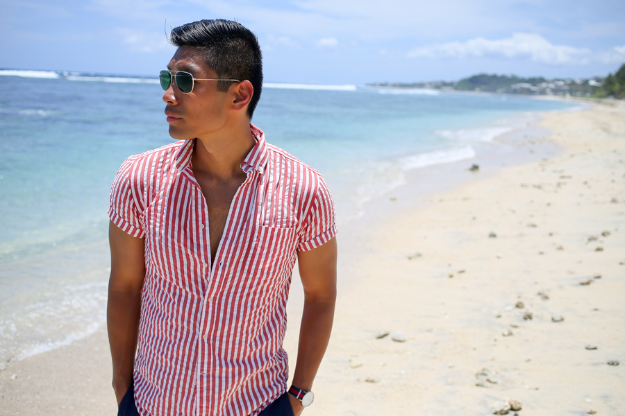 Leo Chan, Réunion, menswear, summer look, travel guide, Seersucker Shirt