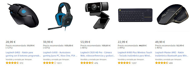Top 15 ofertas de productos Logitech de la Connected Week de Amazon