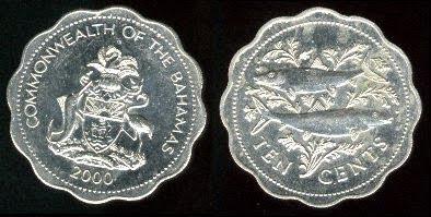 Bahamas 10 Cents (1974+)