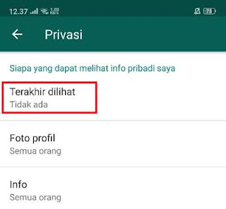 Cara agar jam online pada whatsapp tidak tampil
